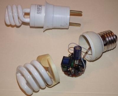 Дефект ртутной лампочки