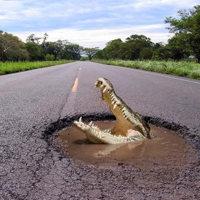 Жалоба на дорожное покрытие