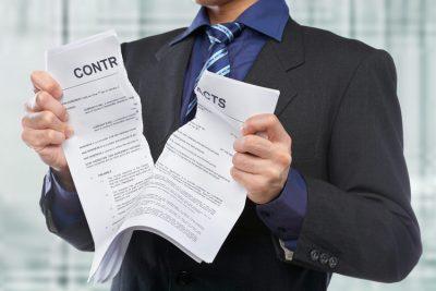 Пример письма о расторжении договора на оказание услуг